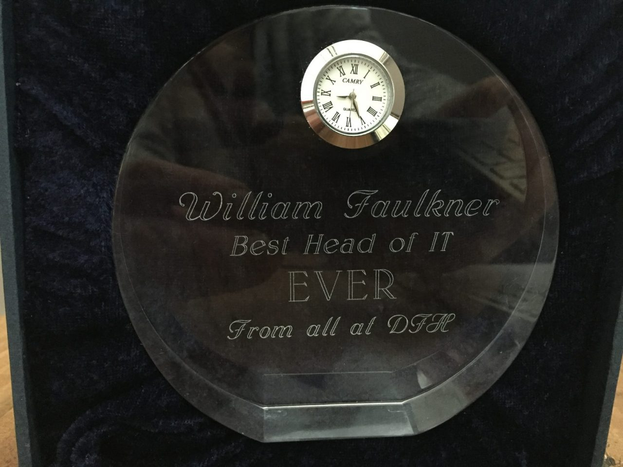 Best Head of IT Crystal Plaque