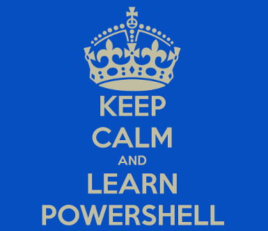Powershell scripting: Keep calm and carry on