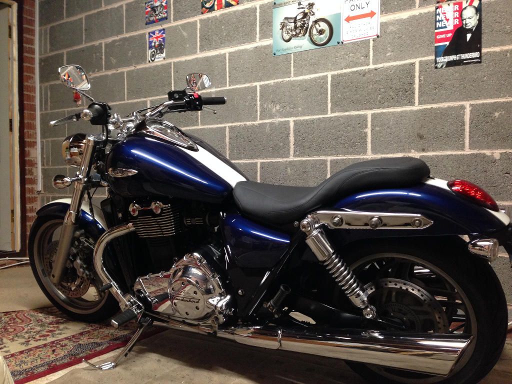 Triumph Thunderbird with Mustang Day Tripper seat fitted